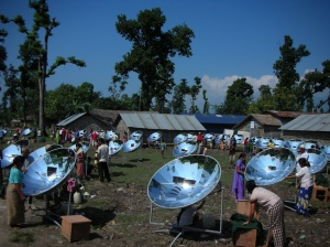 WORLD's LARGEST SOLAR COOKING PROJECT ! for Bhutanese Refugee Camp in Nepal where around 7000 Sk 14 Parabolic Solar Cookers are supplied that have served more than 85,000 people by 2013 !!!!